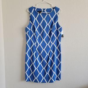 Alyx Diamond Print Stretch Twill Sleeveless Dress
